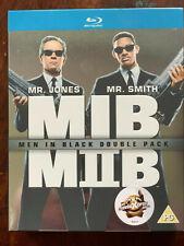 Men in Black 1 + 2 Blu-ray Box Set 1997 + 2002 Sci-Fi Comedy Movie Double Bill