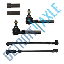 New 6pc Kit: All (4) Inner and Outer Tie Rod End Links + Adjustment Sleeves