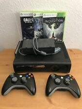 Microsoft Xbox 360 System Bundle 120GB Black Console With Games and Controllers!