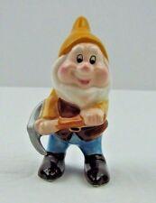 Disney Snow White Happy Dwarf Figurine Porcelain Vintage Malaysia
