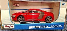 MAISTO 2016 1/24 SPECIAL EDITION RED AUDI R8 DIECAST CAR NEW! HTF! COOL!