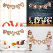 Bunting Burlap Hessian Banner Wedding Engagement Baby Shower Décor HK