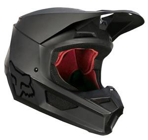 2021 FOX RACING MENS V1 MATTE BLACK OFF ROAD MX MOTO HELMET XS S M L XL 2X 3X