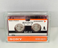 Sony MC60 microcassette x 1 dictaphone cassette MC-60 - brand new in uk micro