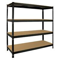 Garage Shelving Heavy Duty Racking 4 Tier Unit Boltless Steel Warehouse Shelves