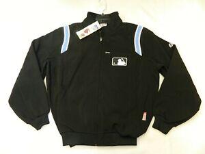 Authentic MLB Umpire Onfield Premier Dugout Jacket W/Shoulder stripes RARE!! Lrg