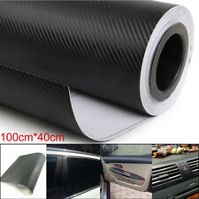 3D Car Interior Accessories Panel Black Carbon Fiber Vinyl Wrap DIY Sticker Easy