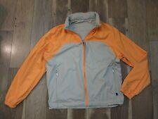 Zegna Sport Men's Brown/Orange Nylon Hidden Hood Zip Reversible Jacket Sz L