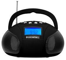B-WARE Kompakt Stereo Anlage Tragbarer USB SD Aux Player Radio Wecker Boombox