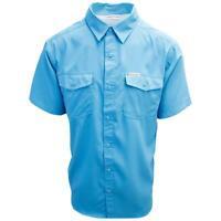Columbia Men's Teal Utilizer II Solid Short Sleeve Shirt (Retail $60.00)