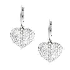 2.00 Carat Round Cut Diamond 18k White Gold Ladies Earrings Set