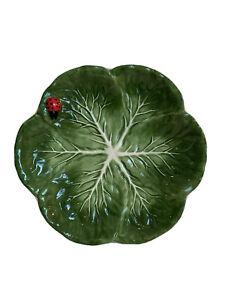 """LADYBUG 🐞 Pier 1 Salad Luncheon Dessert Plate Ladybug Leaf 8.5"""" ~ NEW"""