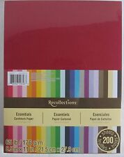"""Recollections Cardstock Paper 8 1/2"""" X 11"""" 200 Sheet Essentials Pink Blue Yellow"""