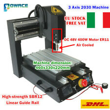 3 Axis 2030 220V Desktop CNC Router Engraving Milling Machine+400W Spindle【ITA】