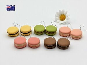 Cute 3D Macarons  Macaroons Biscuit Style Novelty EARRINGS Gift Dress Accessory