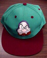 New Vintage Walt Disney Snow White & Seven Dwarfs Grumpy Youth Baseball Cap Hat!