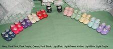 "Doll Shoes, 37mm NAVY Heart Cut for *Bleuette, Hannah Pepper, 12""Shirley T,"