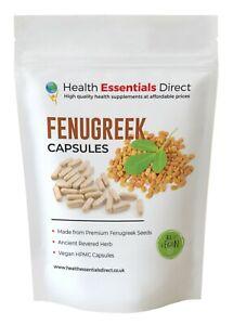 Fenugreek Capsules Powerful 1800mg Daily (Breast Milk, Libido, Cholesterol)