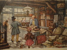 Anton Pieck Print for Framing Book Store 1966 Donald Art Co Holland Vintage