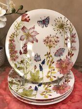 Grace FINE PORCELAIN Floral/Butterflies DINNER Plates (SET OF 4)