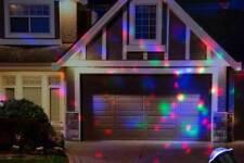 Christmas Disco Spinning Spotlight RGB Projector LED Lights Indoor & Outdoor