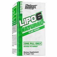 Nutrex Research Lipo-6 Natural | Plant Based All Natural Fat Burner | Coffea Rob