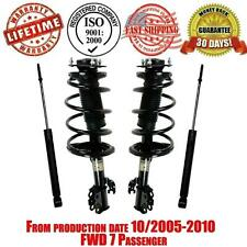 Front Complete Strut & Spring Quick + Rear Shocks For Toyota Sienna 10/2005-2010