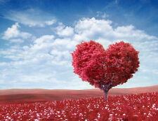 QUADRI MODERNI POSTER 100X140 LOVE AMORE HEART SAN VALENTINO RED WEDDING ROSSO