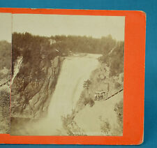 1870s Canadian Scenery Stereoview Quebec Montmorency Falls By L P Vallee