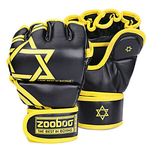 MMA Gloves Fingerless Boxing Gloves for Men Women and Teen Youth, UFC Grappling