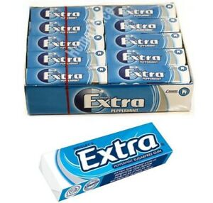 Wrigley's 30 Packets Extra Chewing Gum Peppermint Sugar Free Wrigley's Packs