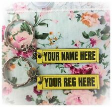 Novelty Number Plate Keyring Gift Birthday Present