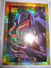 CARTE MARVEL MASTERPIECES SERIE 1994 VENOM 9 OF 10 GOLD HOLOFOIL CARD MINT