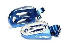 YAMAHA YZ 400  YZ 426 1999-2002  BLUE APICO PRO BITE WIDE FOOTPEGS FOOT RESTS