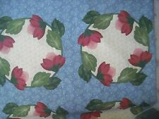 Thimbleberries Cotton Quilt Fabric Lakeside Blue Floral Panel Motiff 1 1/3 yds