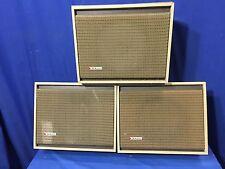 vintage wall speakers. vintage 3x dukane grey wood cabinets quam \u0026 5a606 8\ wall speakers