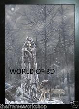 Victoria Frances Enmarcado Negro Hielo económicos-imagen de fantasía 3D 365mm X 465mm