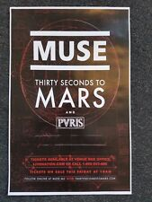 MUSE 2017 11x17 tour concert poster THIRTY SECONDS TO MARS tickets PVRIS