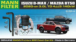Provent Oil Catch Can Kit for Isuzu D-Max & Mazda BT50 aug2020-on 3.0L TD 4JJ3