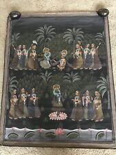 Very Nice Semi Antique Hindi Hindu Indian Painting on Silk Mughal Sawari 46 x 37