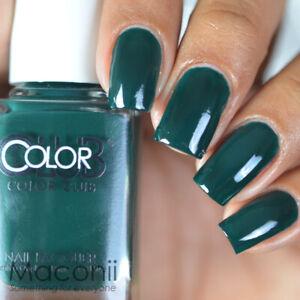 Color Club - Artsy Crafty - Bold Hunter Forest Green Creme Nail Polish 924 15ml