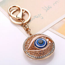 Blue Rhinestones Keyring Evil Eye Key chain Ring Crystal Keychain Pendant