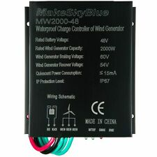 MakeSkyBlue Wind Charge Controller 2000W for 48V AC Wind Turbine IP67