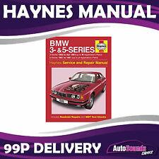 Haynes Workshop Manual BMW E30 3 & E34 5 Series - Upto 1991