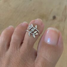 Ring, Silver Rings, Tree Ring Sterling Silver Leaves Toe Ring, Leaf