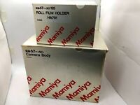 【UNUSED in BOX】MAMIYA RB67 Pro SD + WaistLevel Finder + 120 Filmback From JAPAN
