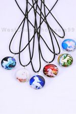 6 PC Unicorn Double Sided Glass Fashion Necklaces Costume Wholesale Jewelry USA