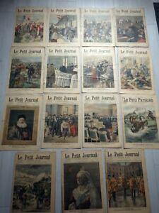 LE PETIT JOURNAL 1900 lot de 15 numéros complets