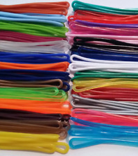 Super Mix of colors Luggage Tag plastic worm loops 6 inch 100 loops per bag