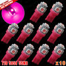 10 x Purple Pink LED T10 194 158 168 5-SMD License Plate Map Dome Light Bulb
